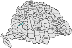 Location of Árva