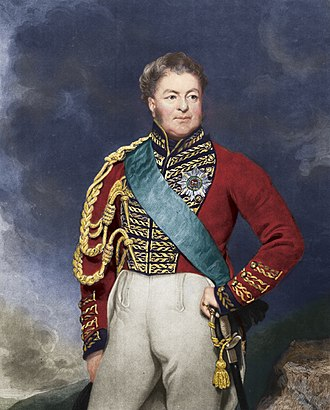 Sir Charles Asgill, 2nd Baronet - Colourisation of a 19th-century mezzotint by Charles Turner (engraver) following an 1822 portrait by Thomas Phillips RA