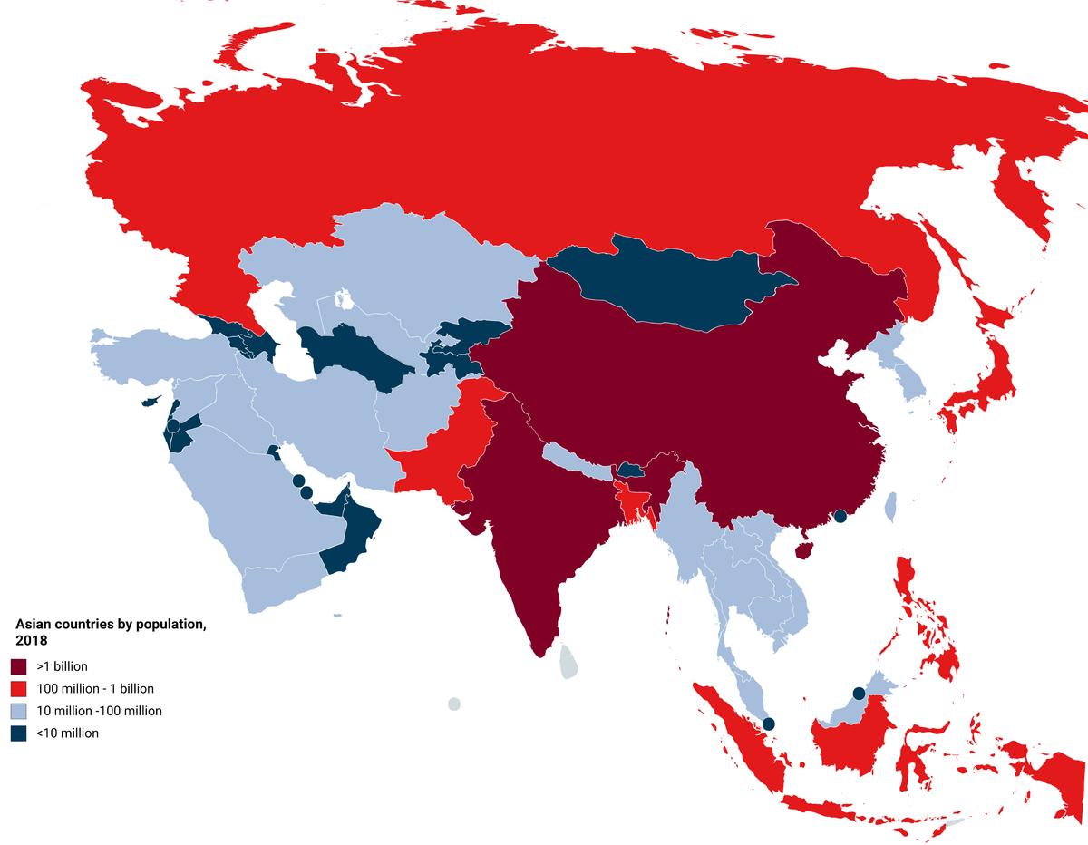 Asian population worldwide fill blank
