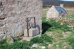 History of cheese - A disused stone cheese-press at the farm Auchabrack, in Aberdeenshire, Scotland