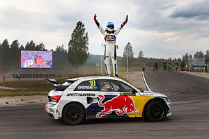 2014 World RX of Sweden - Mattias Ekström celebrates victory