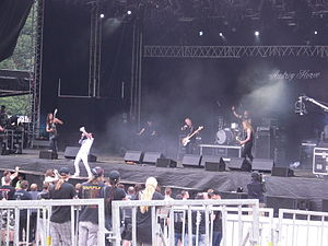 Audrey Horne (band) - Audrey Horne performing at Norway Rock Festival in 2010