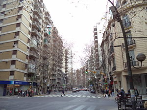 Avenida Santa Fe - View from Anchorena Street