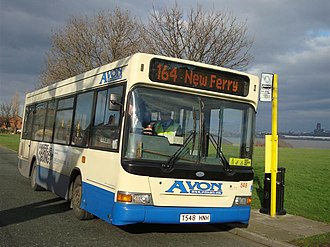 Avon Buses - Plaxton Pointer bodied Dennis Dart in New Ferry in February 2009