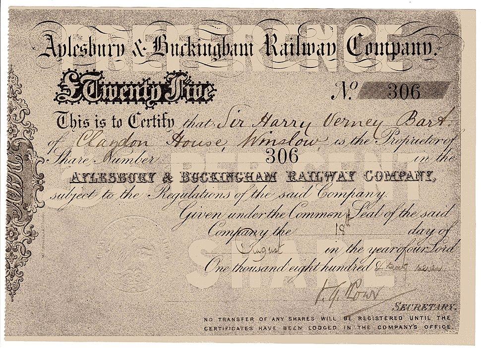 Aylesbury & Buckingham RW 1867
