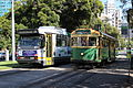B2 2011 and SW6 896 in Victoria Pde on route 30, 2013.JPG