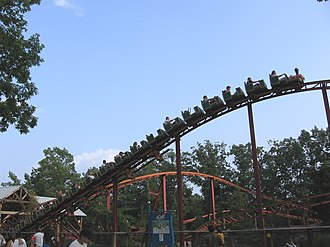 Train (roller coaster) - Blackbeard's Lost Treasure Train (1999) at Six Flags Great Adventure has trains composed of 20 cars.