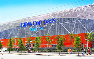 BBVA Compass Stadium - East Facade along Emancipation