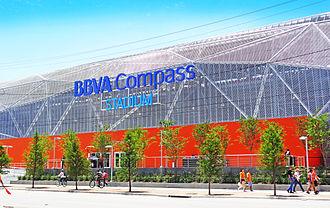 BBVA Compass Stadium - East Facade along Emancipation