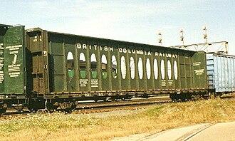 BC Rail - BCIT 871027 in interchange service on the Burlington Northern in 1992.