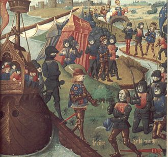 Boniface of Savoy (bishop) - Henry III of England landing in Aquitaine. Boniface was the uncle by marriage of the king.