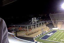 By late October, 2015, a steel skeleton had been erected for the Brian Patterson Sports Performance Center.