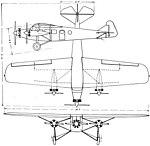 Bach Air Yacht 3-view Aero Digest January 1928.jpg
