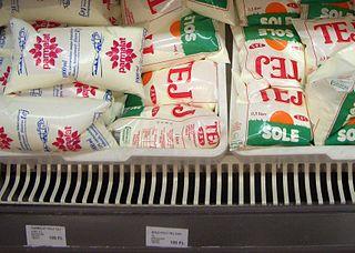 Milk bag Plastic bags that contain milk