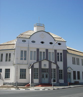 German colonial empire - Railway station in Lüderitz, Namibia, 2006