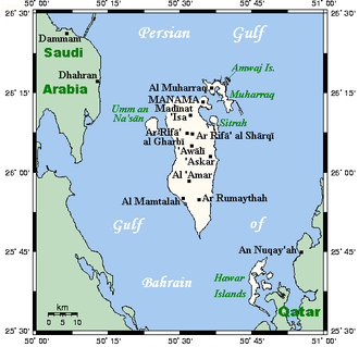 Geography of Bahrain - Map of Bahrain