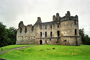 Clan Douglas - The ruins of Balvenie Castle, a stronghold of the Douglases from 1362 to 1455 and seat of John Douglas, Lord of Balvenie.