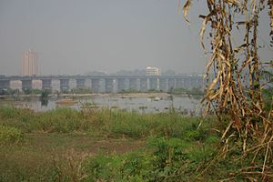 Old bridge in Bamako, Mali