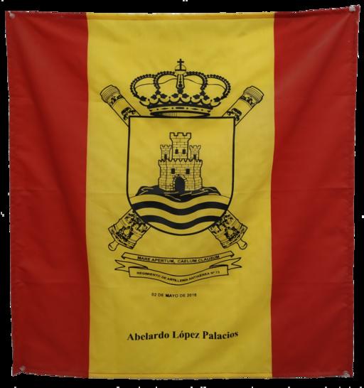 Bandera de percha - Recuerdo de Jura civil