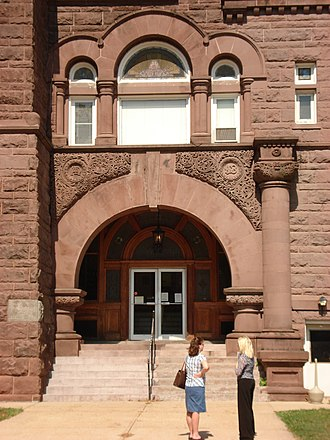 Barbour County Courthouse - Main portal of the Barbour County Courthouse