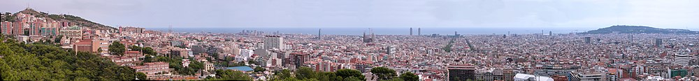 Vue panoramique de Barcelone.