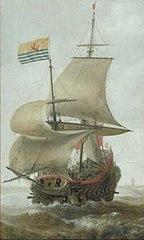 A Warship at Sea