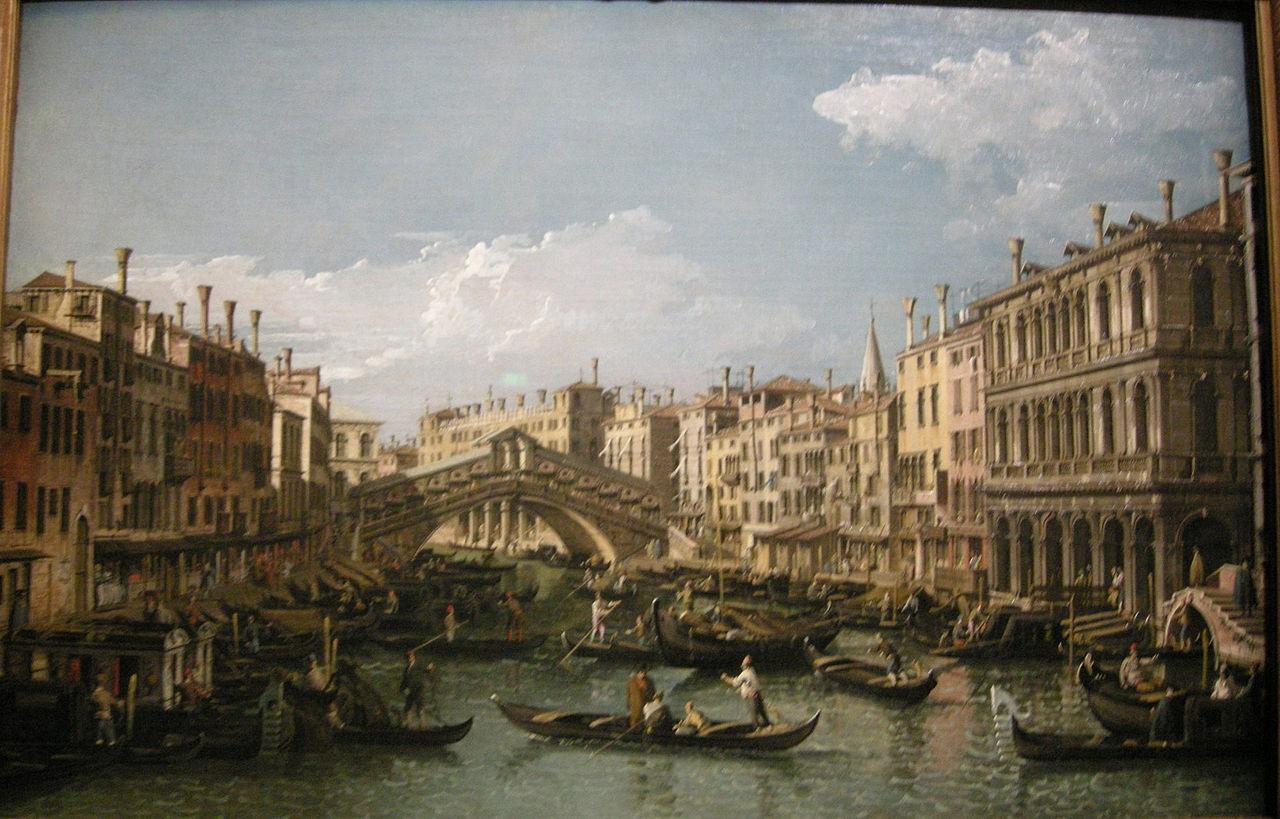 file barnardo bellotto il canal grane verso nord est e il ponte di rialto 1738 circa jpg. Black Bedroom Furniture Sets. Home Design Ideas