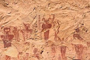 Barrier Canyon Style - Barrier Canyon style pictographs near Thompson Springs, Utah