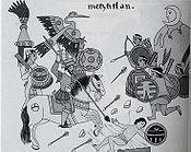 Sitio de Tenochtitlán, según el Lienzo de Tlaxcala.