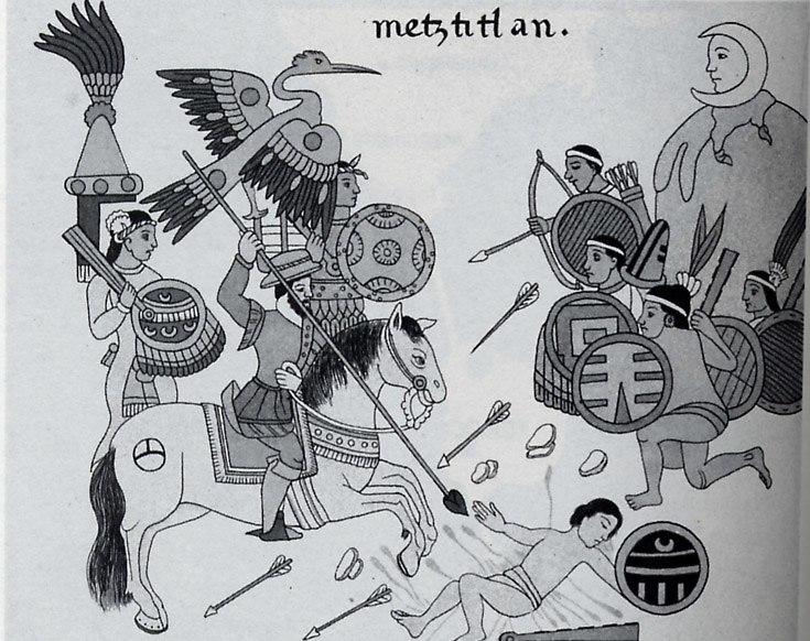 Battle Spanish Otomies Metztitlan