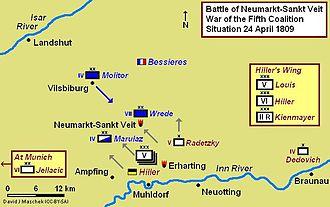 Battle of Neumarkt-Sankt Veit - Battle of Neumarkt-Sankt Veit, 24 April 1809