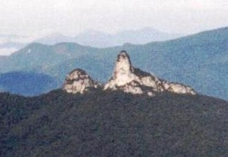 Bukit Batu Lawi - Batu Lawi, seen from the peak of Mount Murud on 4 September 1998