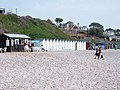 Beach huts at Budleigh Salterton. - geograph.org.uk - 198410.jpg