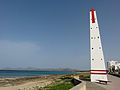 Beacon and bench on Carrer Marina, Can Picafort.jpg