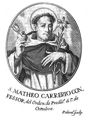 Matthew Carrieri - Engraving by Juan Bernabé Palomino