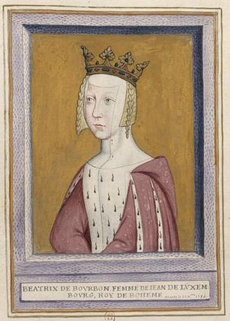 Beatrice of Bourbon, Queen of Bohemia - Image: Beatrix Bourbon