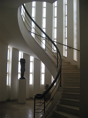 Weizmann House - Interior view of the spiral staircase tower