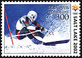 Belarus stamp no. 448 - 2002 Winter Olympics slalom.jpg