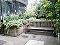 Bench in churchyard of St Andrew Undershaft - geograph.org.uk - 921489.jpg