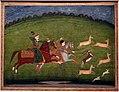 Bengala occidentale, principe e principessa che cacciano una gazzella indiana, da murshidabad, 1750 ca.jpg