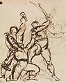 Benjamin Robert Haydon - Study of a Battle - B1977.14.2646 - Yale Center for British Art.jpg