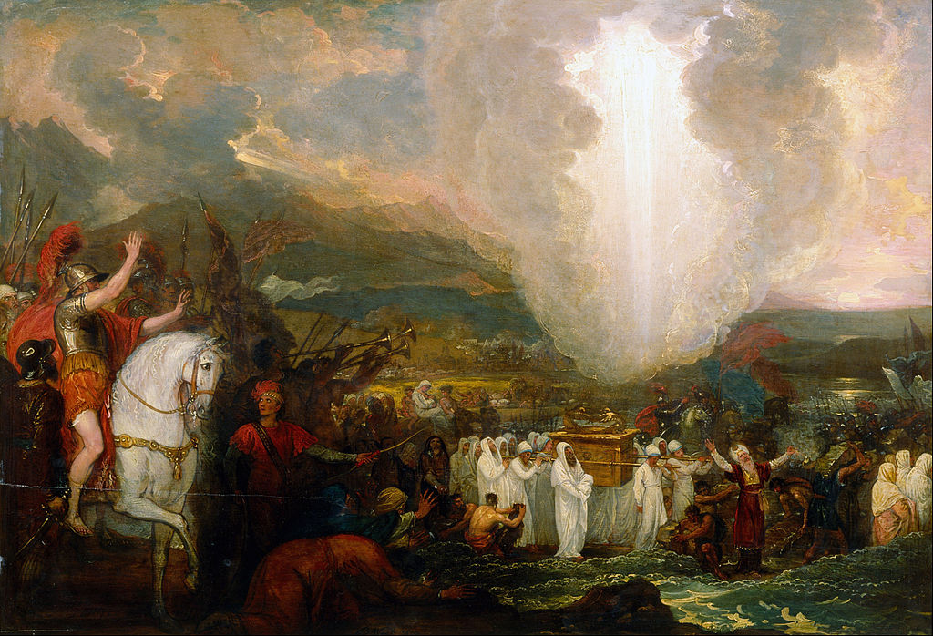 """""""Joshua passing the River Jordan with the Ark of the Covenant"""" by Benjamin West"""