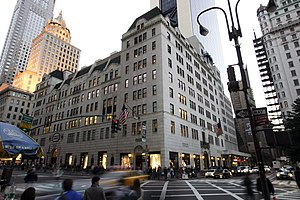 Bergdorf Goodman department store on Fifth Ave...