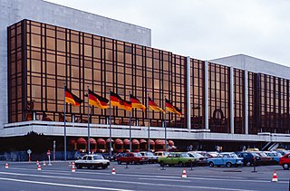 Palace of the Republic, Berlin former house of culture in Mitte, Berlin, Germany, seat of the parliament of the GDR, performing arts and entertainment centre