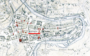 Amthausgasse - Old City of Bern with Amthausgasse highlighted