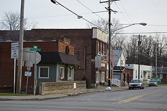 Bessemer, Lawrence County, Pennsylvania - Main Street downtown