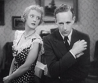 Of Human Bondage - Bette Davis (as Mildred) and Leslie Howard in the 1934 film version