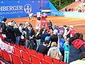 Between Matches at Nurnberger Versicherungscup 2013.JPG