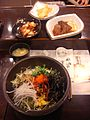 Bibimbap and banchan.jpg
