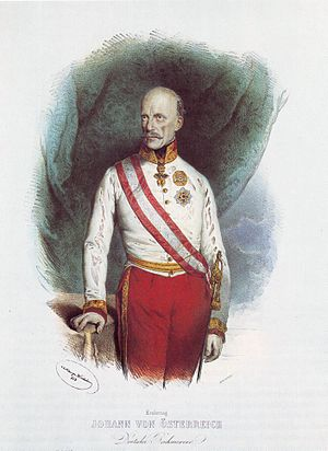 German Empire (1848–49) - Archduke John of Austria, the Imperial Regent and uncle of the Austrian Emperor